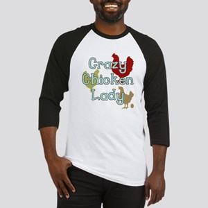 Crazy Chicken Lady Baseball Jersey