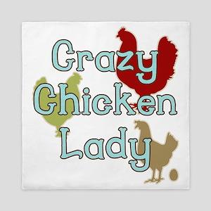 Crazy Chicken Lady Queen Duvet