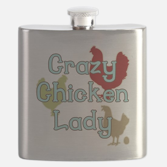 Crazy Chicken Lady Flask