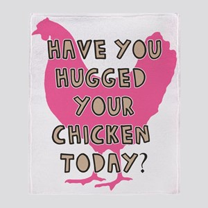 chickenhug Throw Blanket