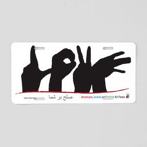 Hands of Love Aluminum License Plate