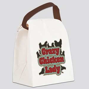 crazychickenladyshirt2 Canvas Lunch Bag