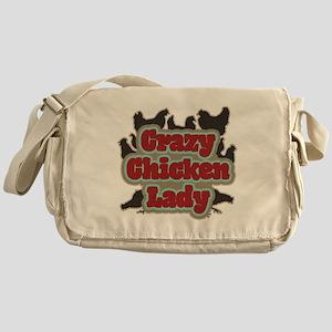 crazychickenladyshirt2 Messenger Bag