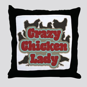 crazychickenladyshirt2 Throw Pillow
