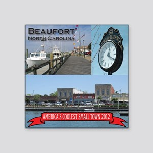 "Beaufort Coolest Square Sticker 3"" x 3"""