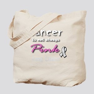 Cancer is Not Always Pink! Lung Cancer Tote Bag