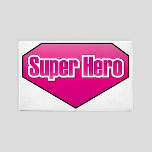 Super Hero in PINK 3'x5' Area Rug