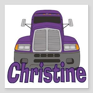 "christine-g-trucker Square Car Magnet 3"" x 3"""