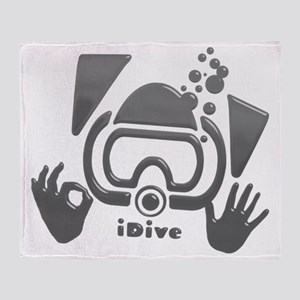 Idive Glass Desaturate Throw Blanket