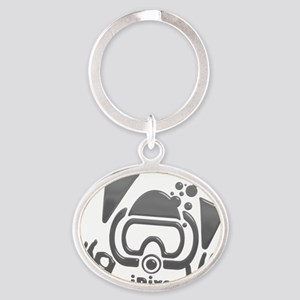 Idive Glass Desaturate Oval Keychain
