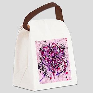 grunge heart Canvas Lunch Bag