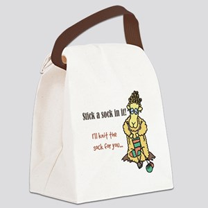 Stick a sock in it Canvas Lunch Bag