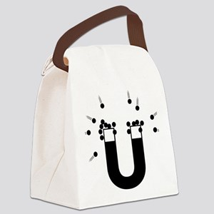 beeb magnet symbol - black Canvas Lunch Bag