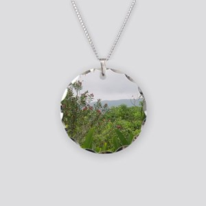Jamaican Jungle Necklace Circle Charm