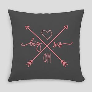 Phi Mu Big Arrows Everyday Pillow