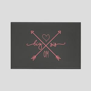 Phi Mu Big Arrows Rectangle Magnet