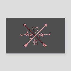 Phi Mu Big Arrows Rectangle Car Magnet