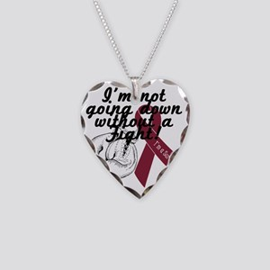 survivor fight multiple myelo Necklace Heart Charm