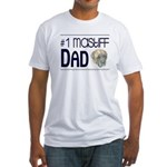 #1 Mastiff Dad Fitted T-Shirt