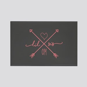 Phi Mu Little Arrows Rectangle Magnet