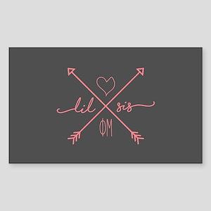 Phi Mu Little Arrows Sticker (Rectangle)