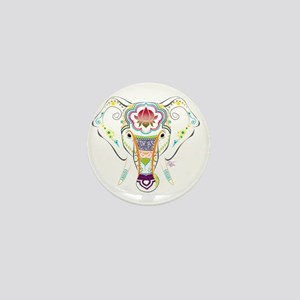 Jewel Elephant Mini Button
