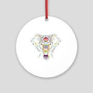 Jewel Elephant Round Ornament