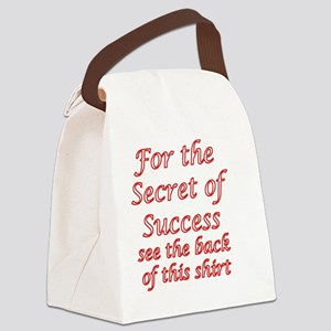 Secret Of Success Canvas Lunch Bag