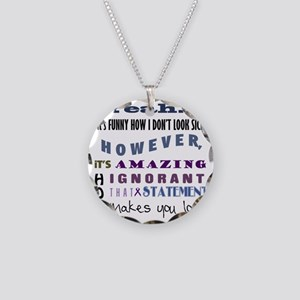 funny-how-sick-crohns Necklace Circle Charm