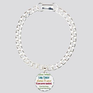 Lung Cancer Doesnt Care Charm Bracelet, One Charm