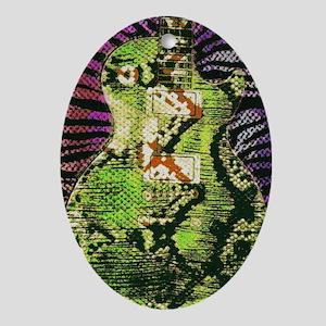 Snake Skin LP Oval Ornament