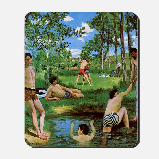 bathers-summer-scene-1869 Frederic Bazil Mousepad