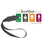 Breakfast in bed Large Luggage Tag