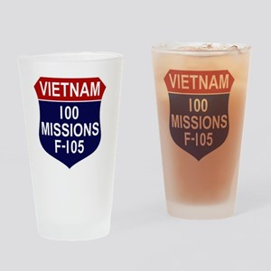 100 MISSIONS - F-105 Drinking Glass