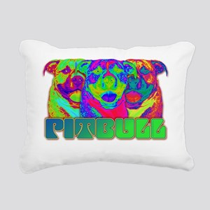Op Art Pitbull Rectangular Canvas Pillow