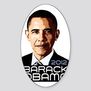 2012 Barack Obama Portrait Sticker (Oval)