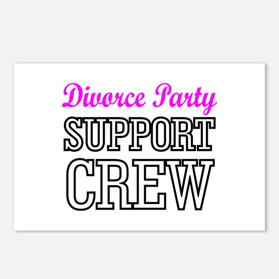 Divorce party support cre Postcards (Package of 8)