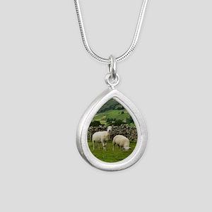 In the Moors Silver Teardrop Necklace