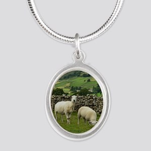 In the Moors Silver Oval Necklace
