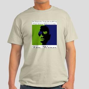 I Am Woman Ash Grey T-Shirt