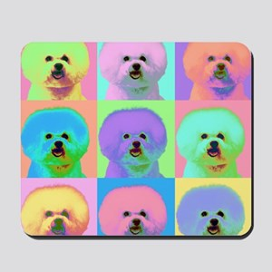 Op Art Bichon Mousepad