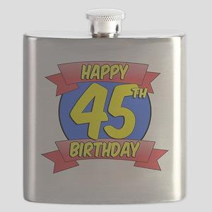 Happy 45th Birthday Balloon Flask