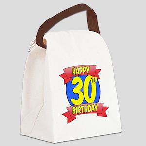 Happy 30th Birthday Balloon Canvas Lunch Bag