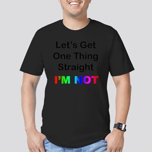 Lets Get One Thing Str Men's Fitted T-Shirt (dark)