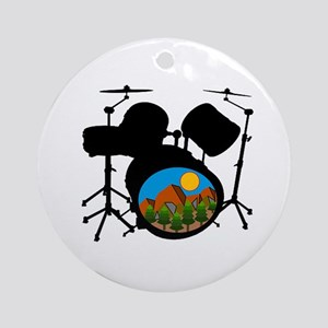 DRUMS Round Ornament