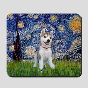 Starry-Siberian pup Mousepad