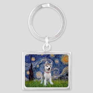 Starry-Siberian pup Landscape Keychain