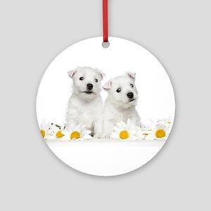 Westie Puppies Ornament (Round)