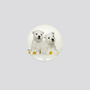 Westie Puppies Mini Button
