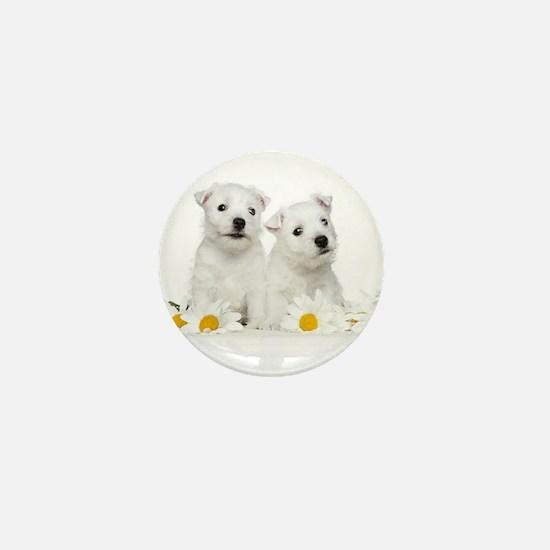 Westie Puppies Mini Button